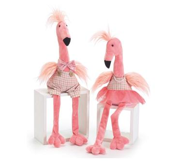 Plush Sitting Flamingo