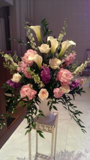 Callas, peonies and roses